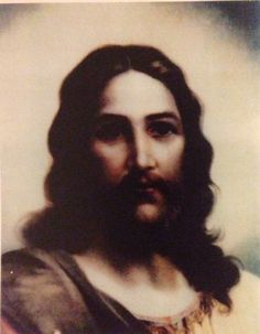 "Mid October 1982, A couple on a pilgrimage to the Holy Land had a roll of film developed. This picture of Jesus was in with the group of photos they had taken. Neither one of them had taken such photo and this picture did not exist. A friend shared this with me along with the story and today, it is an honor to share this beautiful photo of Our Lord Jesus Christ to all.  ""SWEET JESUS, MAY THE WHOLE WORLD BURN FOR THE LOVE OF YOU"""