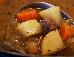 The Best Browned Beef Stew -- --Ever.     Details a good way to brown the stew meat. Need to add 10oz package if frozen peas in the last 15 minutes of cooking.