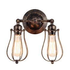 #eBay#Antique#Industrial#Sconce Light#Wall#Mount#Vintage#2#Lamp#Oil#Rubbed#Bronze#Art