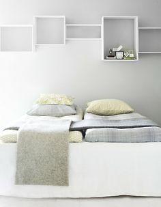 Handige kastjes voor boven je bed