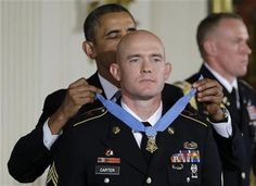 President Barack Obama awarded the Medal of Honor to  war veteran Ty M. Carter on Monday. Carter is the fifth living recipient to be awarded the Medal of Honor for actions in Iraq or Afghanistan.