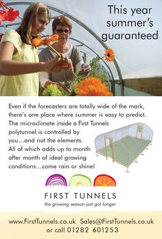 Classified ad for First Tunnels polytunnels in horticulture titles