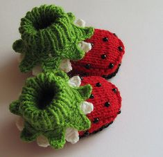 Absolutely darling Lady Bug Booties for a little one!