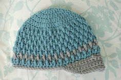 Nazira's Baby Boy! Found the perfect pattern! Alli Crafts: Free Pattern: Deeply Textured Hat - Toddler
