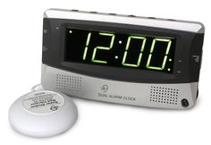 Alarm Clock for Heavy Sleepers @Amber Harper - Chad needed one of these for years!!!! lol