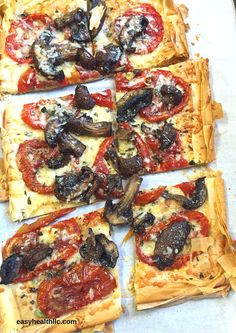 Mid-summer means plenty of delicious ripe tomatoes! Here's a fun way to use up a few and add in any other veggies you might have on hand. This pizza would be great with zucchini, onions, peppers, etc. I roasted my veggies first to add another layer of flavor that helps make this pizza taste…