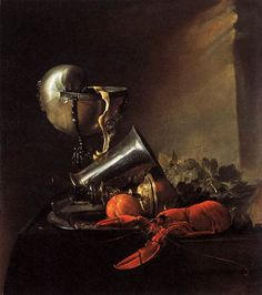 HEEM, Jan Davidsz. de  Still-Life with Lobster and Nautilus Cup  1634