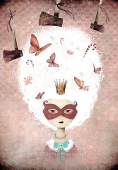MarieAntoinette  Postcard by TheNebulousKingdom on Etsy