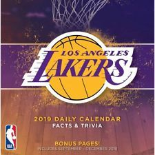 2019 Los Angeles Lakers Desk Calendar Basketball By Turner Licensing Free Shipping Los Angeles Lakers Los Angeles Lakers