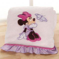 MINNIE MOUSE Butterfly Dreams Boa Blanket