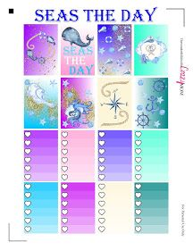 The Wonderful Life of the Crazy Mom: Seas the Day Free Happy Planner Printable Stickers