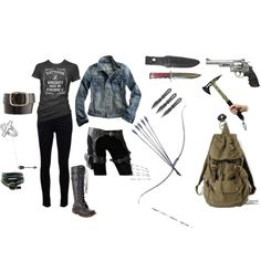 """Zombie Apocalypse: Kickin' Ass in Style"" by heatherburns on Polyvore"