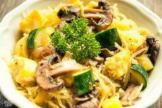 Zucchini Mushroom Pasta #Paleo