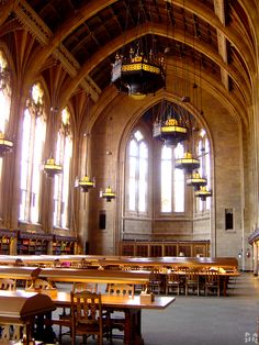 The Hogwarts Library by ~lurakitty on deviantART
