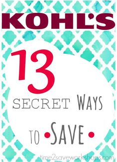Ways to Save at Kohl's | 13 Secret Shopping Tricks!
