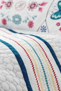 Quilt with decorative stitches #sewing
