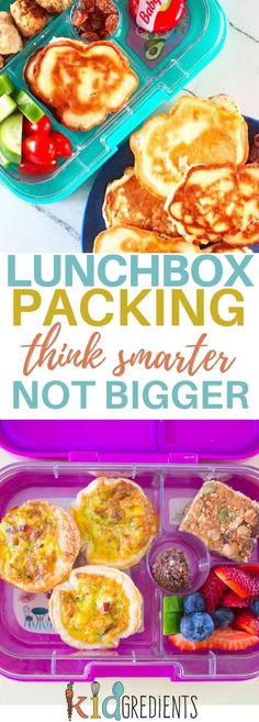 Lunchbox packing: think smarter not bigger. You might find that changing what you pack has a big effect on how much food you need to send! #kidsfood #lunchboxpacking via @kidgredients