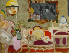 Romare Bearden Storyville Mirror 1987 watercolor and collage 31 1/2 x 40 inches