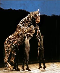 Life size puppets of horses for the stage production of War Horse from the National Theatre... and then to stages worldwide.