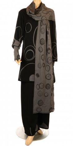 Exclusive Pure Merino Wool Grey & Black Scarf