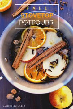 A Fall Stovetop Potpourri recipe that will have your home smelling JUST like fall! Made from nature + takes just a few minutes to make.  #FallIntoClean #ad