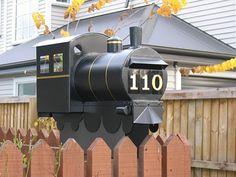 Train letterbox in Canterbury, NZ | #letterbox #mailbox #NZ #newzealand #unique #unusual #train