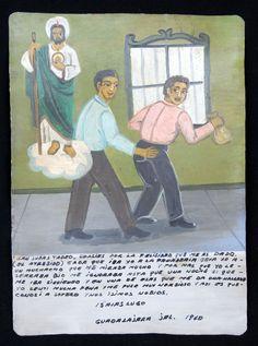 Isaias Lugo agradece a San Judas Tadeo el haber encontrado novio 1960 - Exvotos Mexicanos