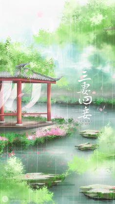 Wallpaper Kawaii, Iphone Wallpaper Sky, Background Hd Wallpaper, Scenery Wallpaper, Fantasy Art Landscapes, Fantasy Landscape, Landscape Art, Beautiful Landscapes, Anime Backgrounds Wallpapers