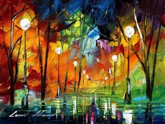 FALL FANTASY- Original Oil Painting On Canvas By Leonid Afremov. I love this one!