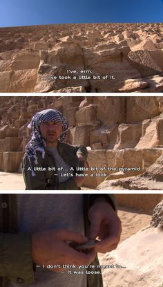 But still had the nerve to cheekily nick a piece of it as a souvenir. | 24 Times Karl Pilkington Was, Unintentionally, The Funniest Man Alive