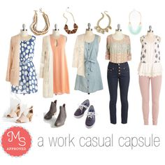 Work Casual Capsule Wardrobe by modcloth on Polyvore featuring Jack BB Dakota, Seychelles, Keds and Mata Traders