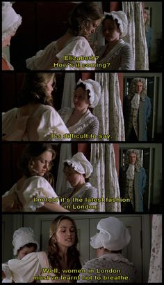 One of the many reasons why I love Elizabeth Swann (and Keira Knightley too) --> Her bitter relationship with corset and any stupid thing that's confining women in general