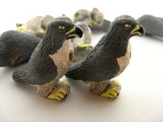 4 Large Peregrine Falcon Beads by TheCraftyBead on Etsy