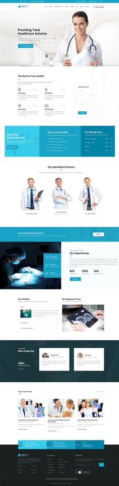 Allied Health Care is beautiful #Medical #website #PSD Template. Download Now!