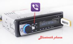 Car Radio Stereo Player Bluetooth Phone AUX-IN MP3 FM/USB/1 Din/remote control For Iphone 12V Car Audio Auto 2016 Sale New -- Check out this great product.
