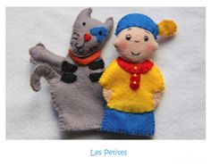 Caillou and friends Inspired Felt Finger by LesPetitesshop on Etsy