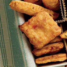 Pimiento Cheese Squares - Southern treat for Christmas dinner (appetizer)(Homemade Cheese Straws) Appetizers For Party, Appetizer Recipes, Snack Recipes, Cooking Recipes, Party Nibbles, Parties Food, Party Snacks, Cheese Recipes, Party Games