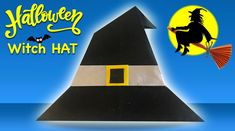 """Spooky Halloween Time for Learn how to make Halloween paper witch hat for your Halloween paper craft ideas and decorations :) Watch our """"Halloween Pape. Halloween 2018, Spooky Halloween, Decor Crafts, Diy Crafts, Halloween Paper Crafts, Gifts For Your Boyfriend, How To Make Paper, Craft Videos, Diy Paper"""
