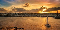 Sailing into St Peter Port at sunset. Mr Turner would have enjoyed the light this evening. #LoveGuernsey  Link to the whole collection of 'Georgie's Pic Of The Day' :-http://chrisgeorge.dphoto.com/#/album/4daaes  Picture Ref: 28_05_15 — at St Peter Port.