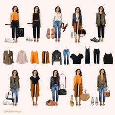 This is my final collection of outfits for my 10x10! I was actually able to create way more than 10 looks because these don't even include my slip dress! Minimal Wardrobe, Ethical Fashion, Wardrobes, Capsule Wardrobe, Create, Spring, Fashion Tips, Outfits, Collection
