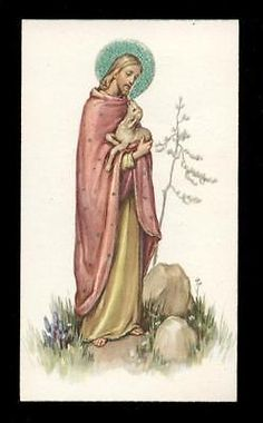 "santino-holy card""""ediz. FB serie SPIRITUAL n.9 GESU' BUON PASTORE"