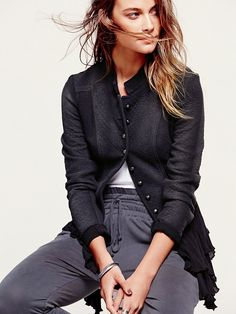 Free People Military Ruffles Jacket, $168.00
