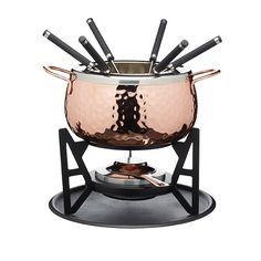 Artesà Hand Finished Copper Effect Fondue Set