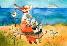 VICTORIA KIRDIY - Russian Artists, Illustrator Белый пароход (Виктория Кирдий)