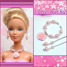 handmade barbie doll jewelry set necklace earrings for barbie dolls #Unbranded
