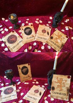Game of Thrones themed Wedding table Décor by Inmyheartdesigns