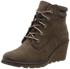 Timberland Earthkeepers Amston 6 Inch Womens Wedge Heels Brown 8252A Boots Shoes (5.5M)