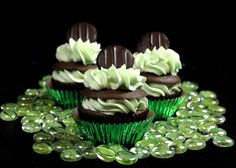 St. Patrick's Day - Chocolate Mint Cupcakes