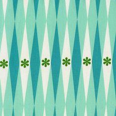 HALF YARD Cotton and Steel  Playful by Melody by fabricsupply (Craft Supplies & Tools, Fabric, kawaii, fabricsupply, geometric, sixties, fifties, retro, melody miller, flower, diamonds, japan, games)