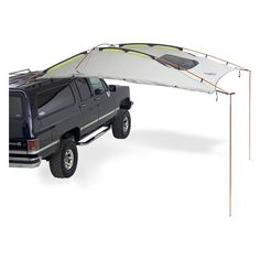 Kelty® Carport Deluxe shelter attaches to any roof rack at the side or rear of your truck or SUV. Truck Camping, Van Camping, Camping Survival, Honda Element Camping, Vw Bus, T3 Camper, Camper Van, Combi Vw, Cargo Trailers